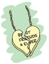 a Best Friends Forever necklace