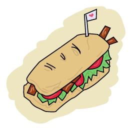 a BLT sandwich