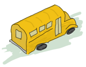 A short school bus