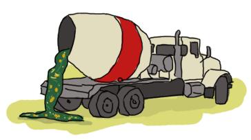 A cement truck