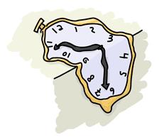 A Dali-style melting clock