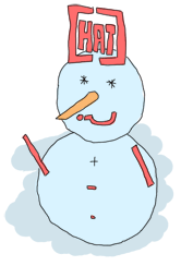 A snowman made of regular expression characters